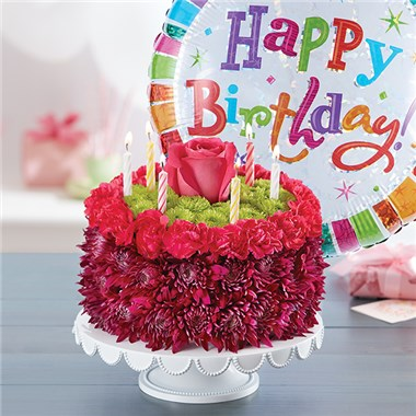 1800FLOWERS BIRTHDAY WISHES FLOWER CAKE PURPLE Cute Flowers