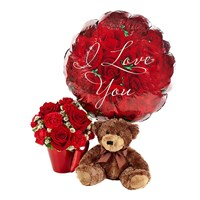 """You Lift My Heart"" flower bouquet for Valentine's Day"